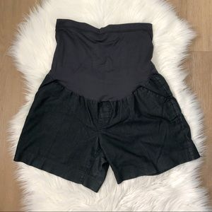 LIZ LANGE MATERNITY • dark indigo blue jean shorts